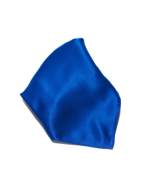 Royal Blue Solid Color Hankerchief Pocket Square Hanky