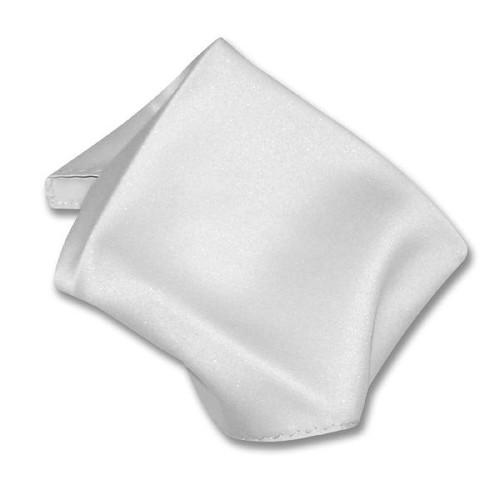Silver Gray Solid Color Hankerchief Pocket Square Hanky