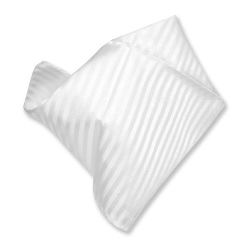 White Striped Pattern Hankerchief Pocket Square Hanky
