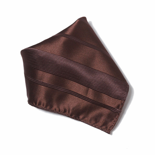 Dark Brown Woven Design Hankerchief Pocket Square Hanky