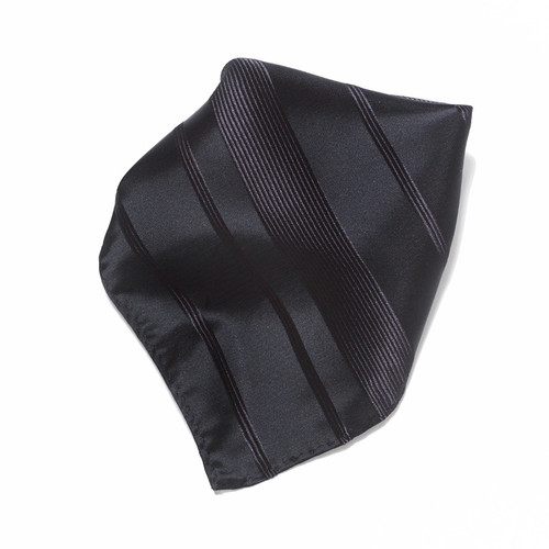 Black Woven Design Hankerchief Pocket Square Hanky