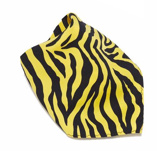 Yellow Zebra Design Hankerchief Pocket Square Hanky