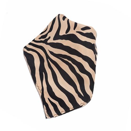 Sand / Beige Zebra Design Hankerchief Pocket Square Hanky