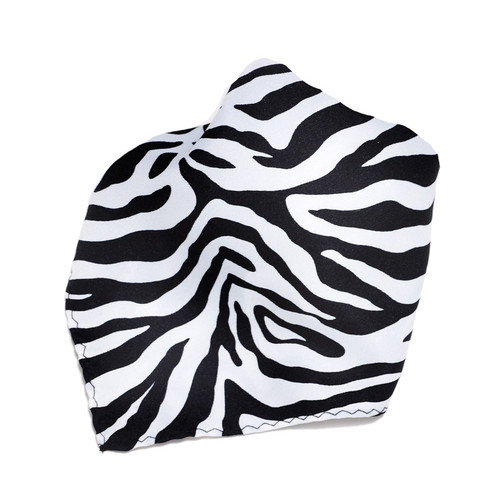 White Zebra Design Hankerchief Pocket Square Hanky