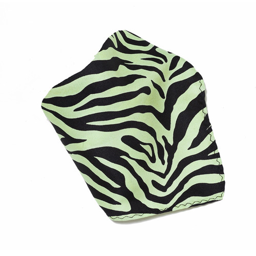 Lime Green Zebra Design Hankerchief Pocket Square Hanky