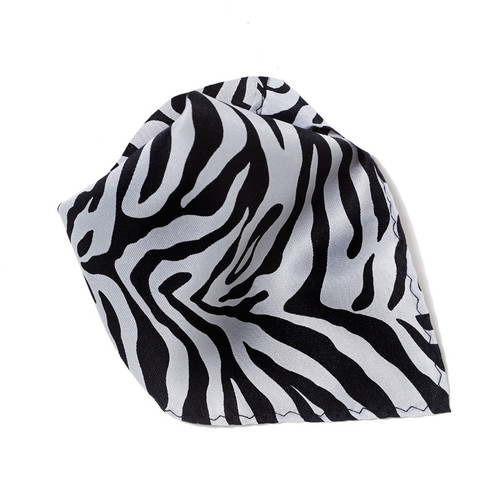 Grey Zebra Design Hankerchief Pocket Square Hanky