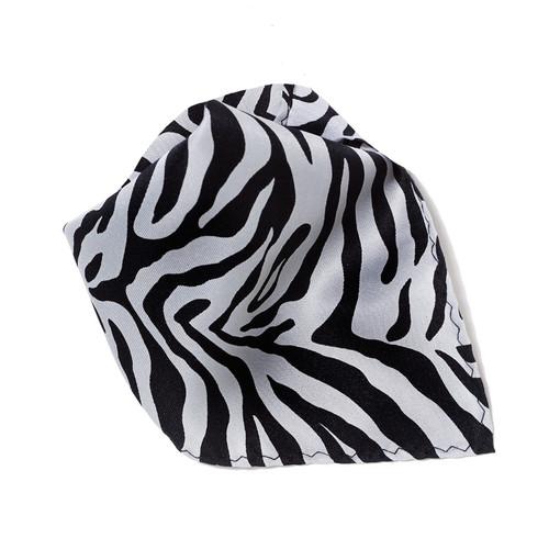 Grey Zebra Design Hankerchief Pocket Square Hanky