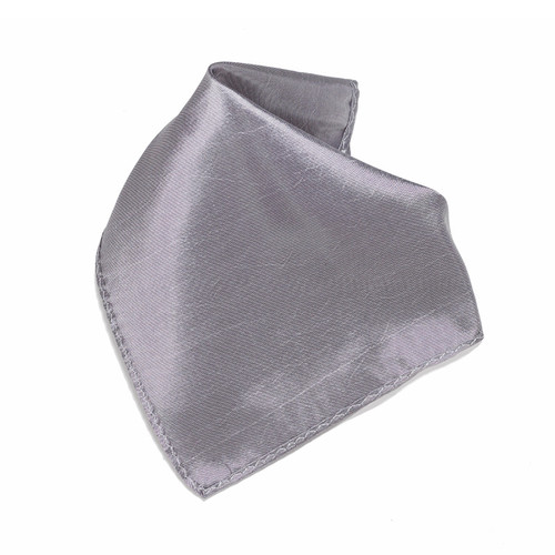 Shiny Graphite Silver Hankerchief Pocket Square Hanky