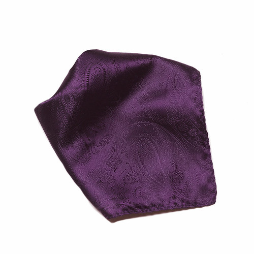 Dark Purple Paisley Design Hankerchief Pocket Square Hanky