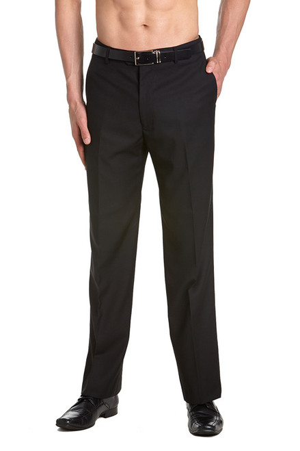 Men's TUXEDO Pants Flat Front with Satin Band BLACK CONCITOR