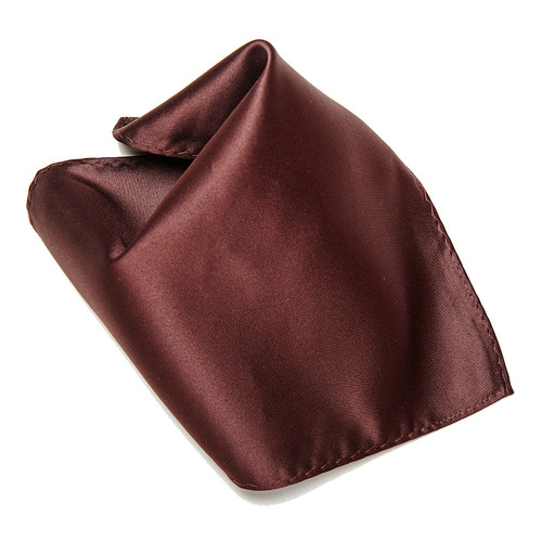 CHOCOLATE BROWN Hankerchief Pocket Square Hanky