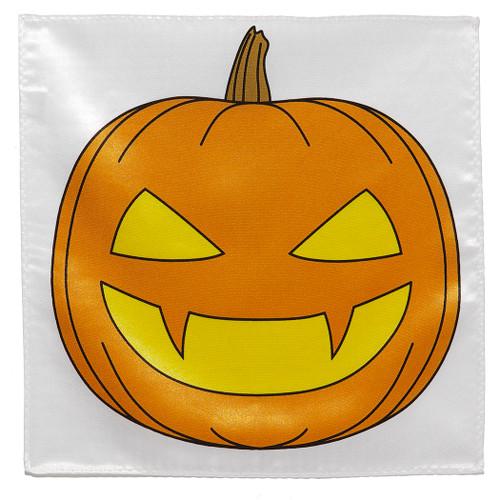 Halloween Pumpkin Jack o Lantern Handkerchief Pocket Square Hanky