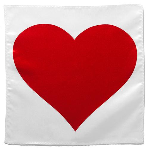 Red Heart Shape Handkerchief Pocket Square Hanky