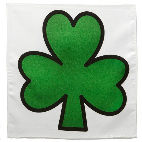 Shamrock Three Leaf Clover Irish Green Handkerchief Pocket Square Hanky