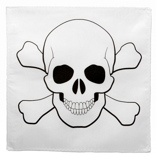 Skull Design Handkerchief Pocket Square Hanky