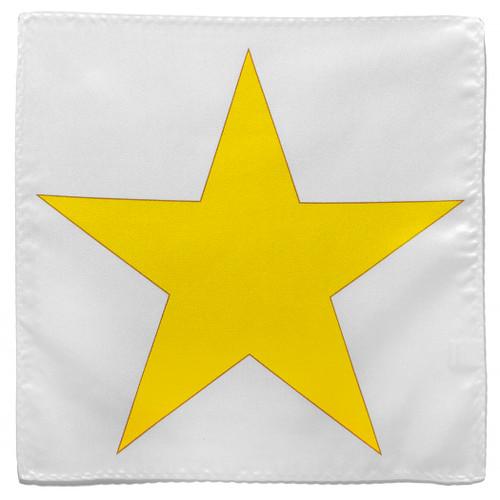 Gold Star Design Hankerchief Pocket Square Hanky