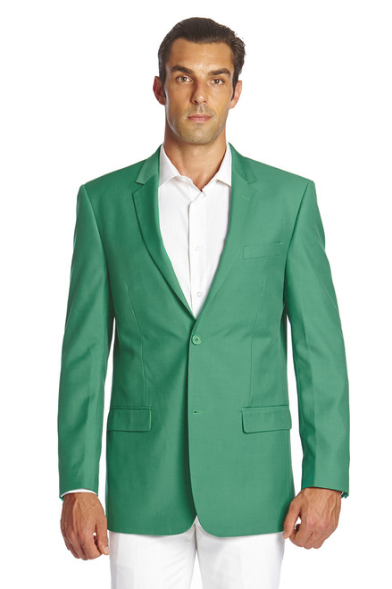 CONCITOR Men's Suit Jacket Separate Blazer Coat Solid EMERALD GREEN Two Button Style