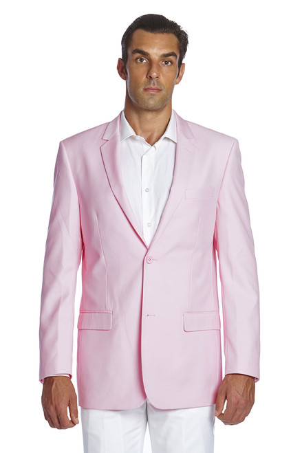 CONCITOR Men's Suit Jacket Separate Blazer Coat Solid PINK Color Two Button Style