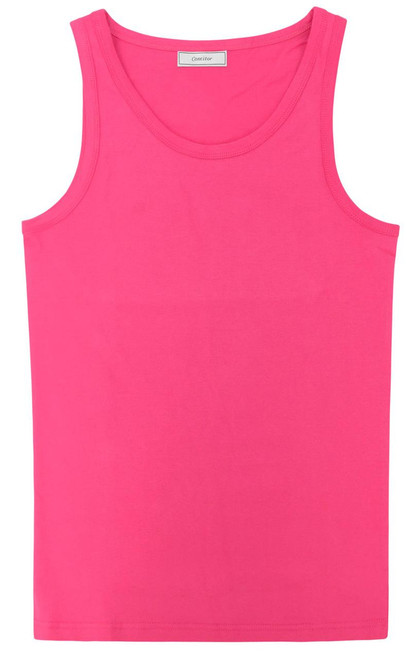 CONCITOR Collection Men's Tank Top 100% Cotton A-Shirt Solid HOT PINK Color