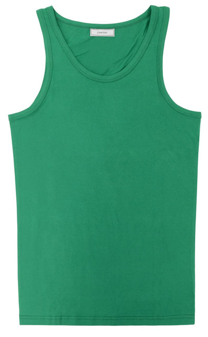 CONCITOR Collection Men's Tank Top 100% Cotton A-Shirt Solid EMERALD GREEN Color