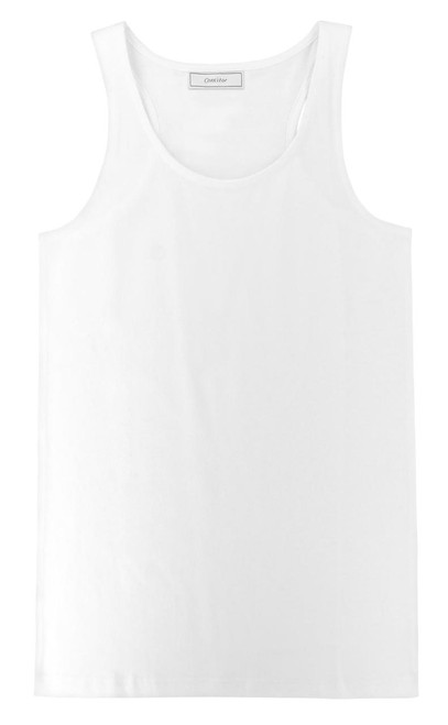 CONCITOR Collection Women's Tank Top 100% Cotton A-Shirt Solid WHITE Color