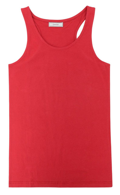 CONCITOR Collection Women's Tank Top 100% Cotton A-Shirt Solid RED Color