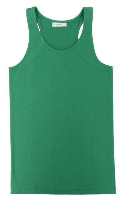 CONCITOR Women's Tank Top 100% Cotton A-Shirt Solid EMERALD GREEN Color