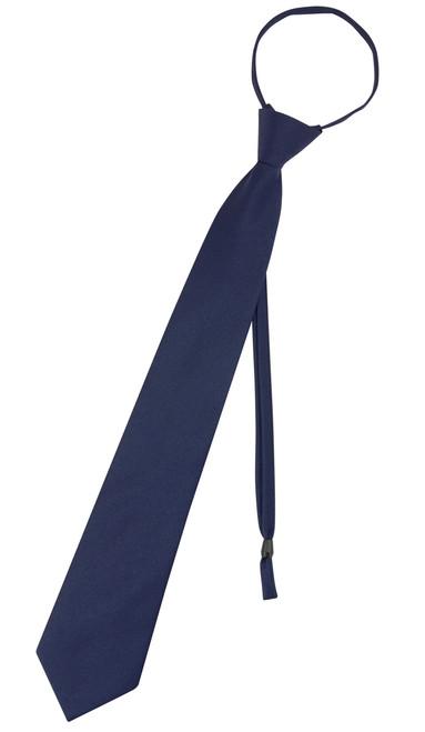 Vesuvio Napoli PreTied Necktie Solid NAVY BLUE Color Adjustable Neck Tie Design