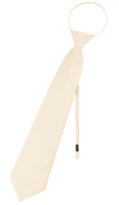 Vesuvio Napoli PreTied Necktie Solid TAN Ligh Brown Adjustable Neck Tie Design