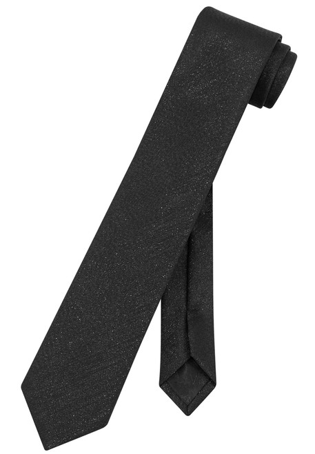 "Vesuvio Napoli Narrow Necktie Metallic BLACK 2.5"" Skinny Thin Men's Neck Tie"