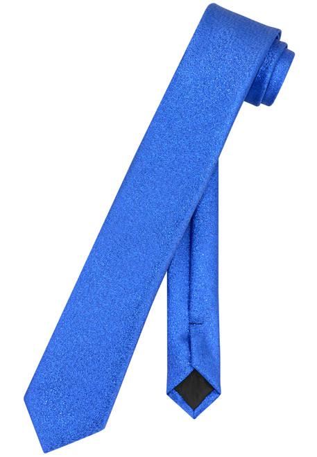"Vesuvio Napoli Narrow Necktie Metallic ROYAL BLUE 2.5"" Skinny Thin Neck Tie"