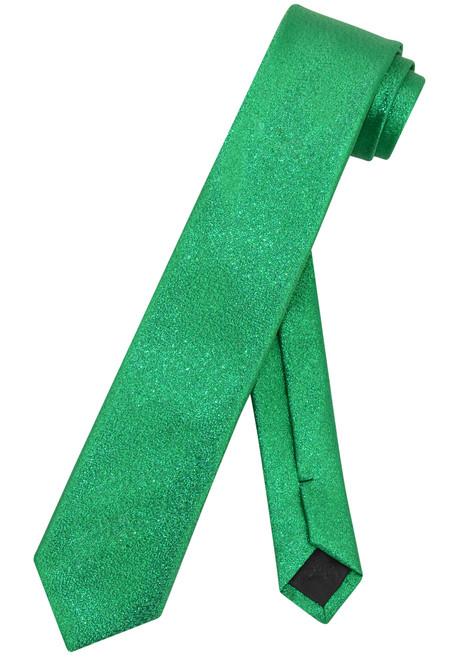 "Vesuvio Napoli Narrow Necktie Metallic GREEN 2.5"" Skinny Thin Men's Neck Tie"
