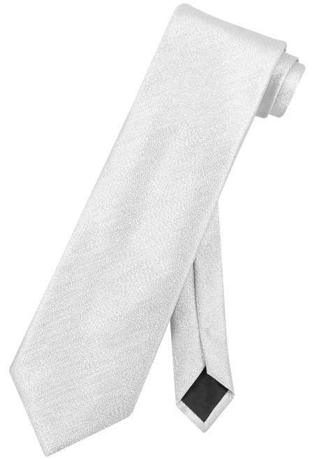 Vesuvio Napoli NeckTie Solid SILVER GRAY Metallic Color Design Men's Neck Tie