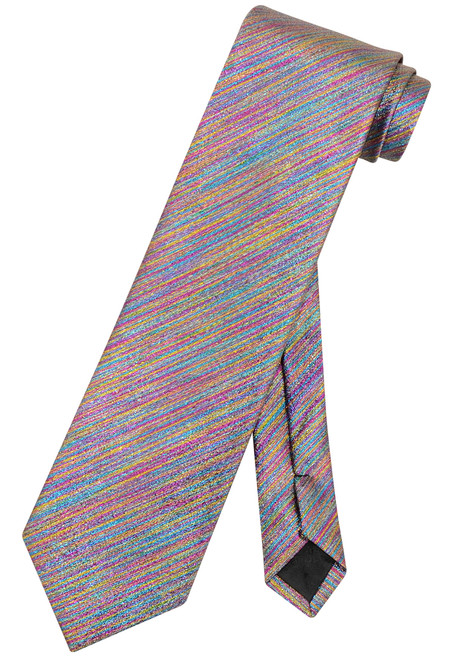 Vesuvio Napoli NeckTie Solid SPECTRUM Metallic Color Design Men's Neck Tie