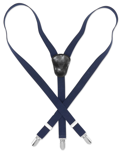 Boy's Solid NAVY BLUE Color Children's SUSPENDERS Y Shape Back Elastic with Clips