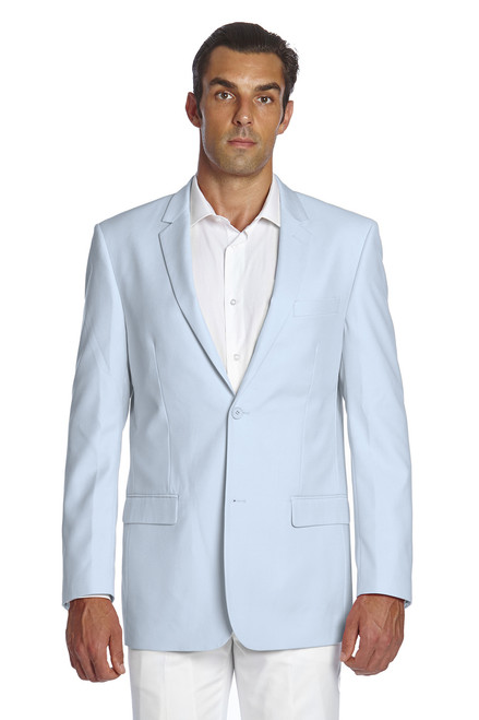 CONCITOR Men's Suit Jacket Separate Blazer Coat Solid BABY BLUE Two Button Style