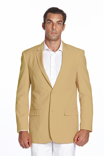 CONCITOR Men's Suit Jacket Separate Blazer Coat Solid GOLD Color Two Button Style