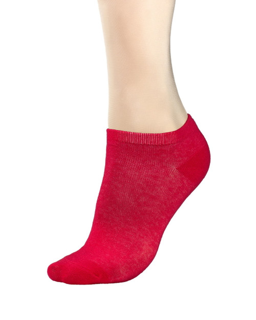 CONCITOR Women's Dress Socks Solid Red Color COTTON Low Cut No Show Sock 1 Pair