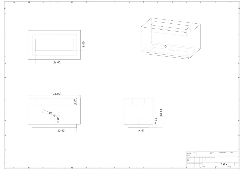 "Linear 36"" - 110K BTU Burner"