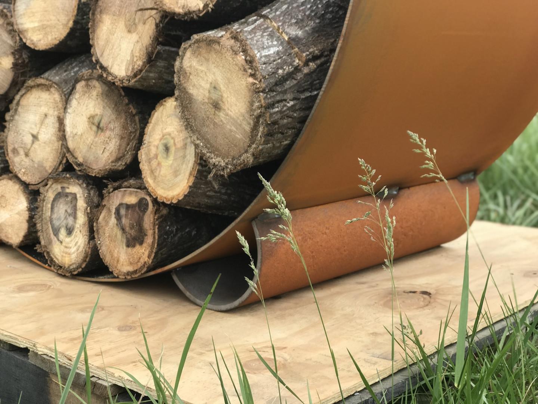 The Orbit - Round Steel Log Rack