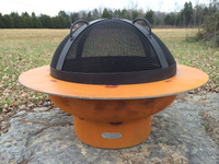 """The SG-27.5"""" Artisan Spark Guard is handcrafted to rest on the tabs welded on the ID (inner diameter) of the Saturn bowl.  The SG-27.5 is designed to specifically fit Saturn and no other Fire Pit Art offering."""