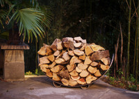 Log Rack - Crescent in Stainless Steel