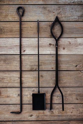 Fire Tools - This set consists of an Ash Shovel, Fire Poker and Log Tongs