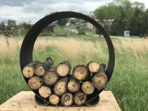 The Orbit - Round Steel Log Rack