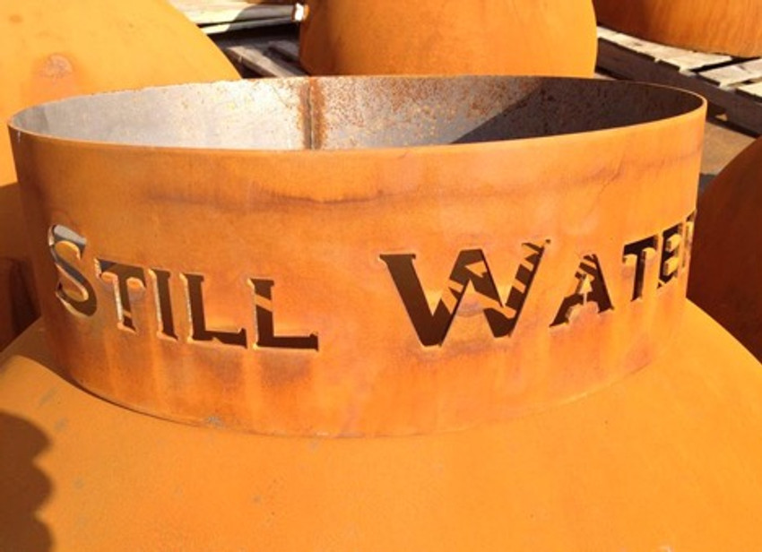 Leave a Review - Personalized Fire Pit Base - Is Attached To And Ships With Fire Pit