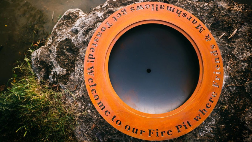 The Rings Of Warmth: Saturn Fire Pit