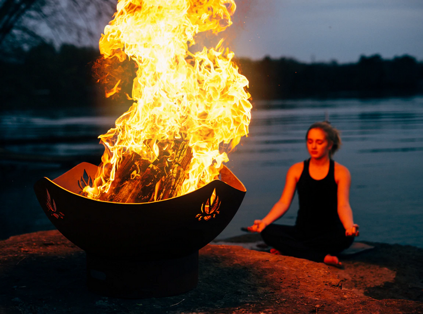 Meditating With The Flames