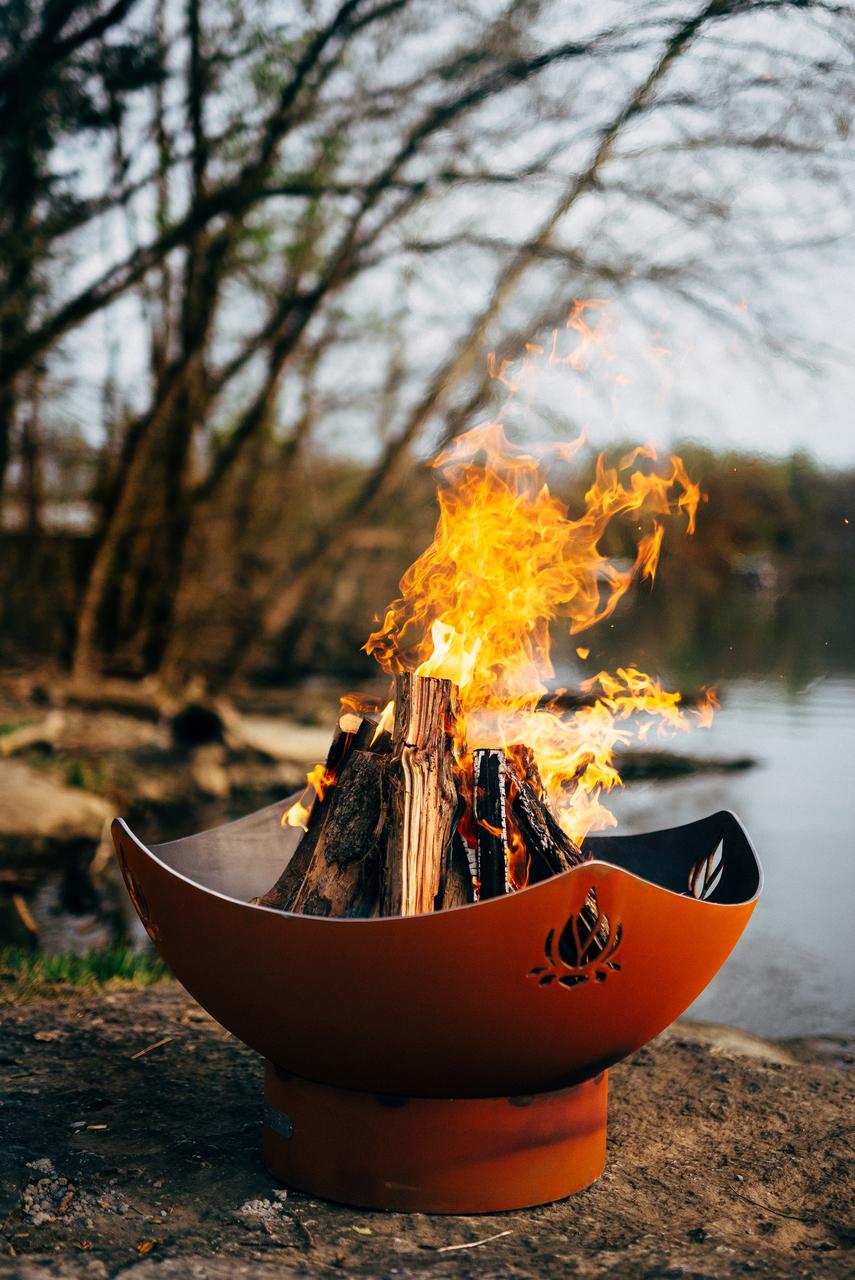 Namaste Fire Pit Wood Burning Natural Gas Or Liquid Propane Fueled
