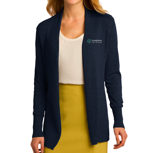 Symphony Port Authority Ladies Open Front Cardigan Sweater