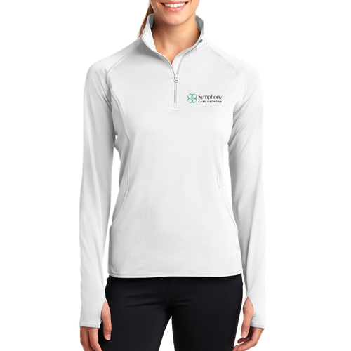 Symphony Sport-Tek Ladies Sport-Wick Stretch 1/2 Zip Pullover